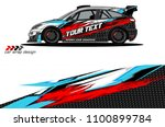 rally car wrap vector designs.... | Shutterstock .eps vector #1100899784