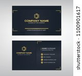 business model name card luxury ... | Shutterstock .eps vector #1100901617