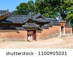 building in the gyeongbokgung... | Shutterstock . vector #1100905031