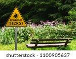 "warning sign ""beware of ticks""... | Shutterstock . vector #1100905637"