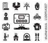 set of 13 simple editable icons ... | Shutterstock .eps vector #1100914307