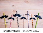 drinking straws for party on... | Shutterstock . vector #1100917367