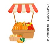 vegetable and fruit local...   Shutterstock .eps vector #1100923424