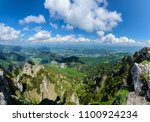 panorama from the view from... | Shutterstock . vector #1100924234