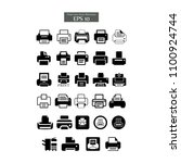 printer icons templates | Shutterstock .eps vector #1100924744