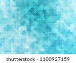 light blue vector blurry... | Shutterstock .eps vector #1100927159
