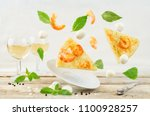 flying shrimp garlic cheesy... | Shutterstock . vector #1100928257