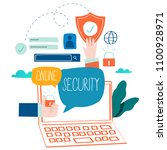 online security  data... | Shutterstock .eps vector #1100928971