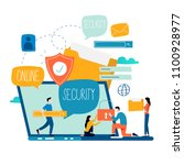 online security  data... | Shutterstock .eps vector #1100928977