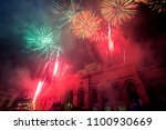 Colorful Fireworks Over The...