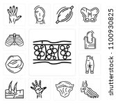 set of 13 simple editable icons ... | Shutterstock .eps vector #1100930825