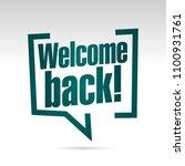 welcome back to school in... | Shutterstock .eps vector #1100931761