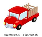 Vector illustration truck - stock vector