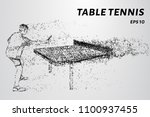 particle table tennis. table... | Shutterstock .eps vector #1100937455