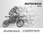 motocross particles. motocross... | Shutterstock .eps vector #1100937695