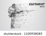 particle guitarist. the... | Shutterstock .eps vector #1100938085