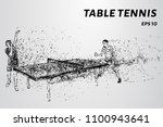 particle table tennis. table... | Shutterstock .eps vector #1100943641