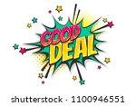 good deal  sale burst wow comic ... | Shutterstock .eps vector #1100946551