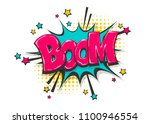boom isolated white comic text... | Shutterstock .eps vector #1100946554