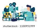 vector illustration on white...   Shutterstock .eps vector #1100951999
