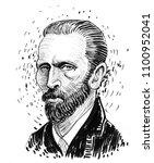 Vincent Van Gogh. Ink Black An...
