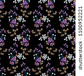seamless floral pattern in... | Shutterstock .eps vector #1100952221