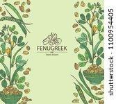 background with fenugreek ...   Shutterstock .eps vector #1100954405