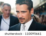 "Small photo of MOSCOW, RUSSIA, AUGUST, 8: Actor Colin Farrell. Premiere of the movie ""Total Recall"", August,8, 2012 at OCTOBER CINEMA in Moscow, Russia"