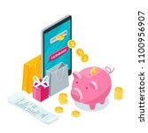 cashback money  online service... | Shutterstock .eps vector #1100956907