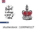 travel london banner. retro...   Shutterstock .eps vector #1100960117