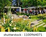 show gardens at rhs chelsea...   Shutterstock . vector #1100964071