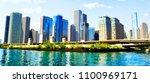 chicago skyline  illinois | Shutterstock . vector #1100969171