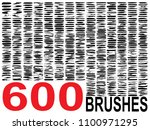 vector collection of 600... | Shutterstock .eps vector #1100971295