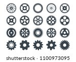 cogwheel machine gear icon  set ... | Shutterstock .eps vector #1100973095