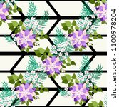 seamless colorful pattern in... | Shutterstock .eps vector #1100978204