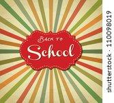 back to school image vector | Shutterstock .eps vector #110098019