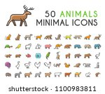 set of 50 minimalistic solid... | Shutterstock .eps vector #1100983811