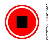stop sign icon. media player... | Shutterstock .eps vector #1100989655