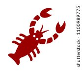 vector lobster illustration  ... | Shutterstock .eps vector #1100989775