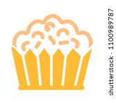 vector cupcake muffins  ... | Shutterstock .eps vector #1100989787