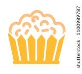 vector cupcake muffins  ... | Shutterstock .eps vector #1100989787