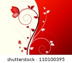 abstract autumn background with ... | Shutterstock . vector #110100395