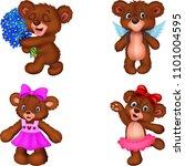 cartoon bear collection set | Shutterstock .eps vector #1101004595