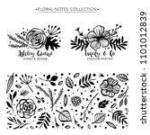 flower logo template. floral... | Shutterstock .eps vector #1101012839