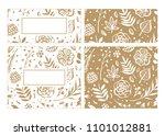 flower frame template for... | Shutterstock .eps vector #1101012881