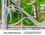 aerial view expressway motorway ... | Shutterstock . vector #1101023507