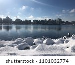 snow in false creek vancouver | Shutterstock . vector #1101032774