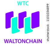 waltonchain coin cryptocurrency ... | Shutterstock .eps vector #1101036899