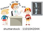 children having fractures leg... | Shutterstock .eps vector #1101042044