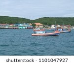a fishing boat. | Shutterstock . vector #1101047927